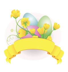 eggs scroll vector image