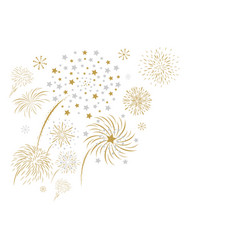 fireworks design isolated on white background vector image