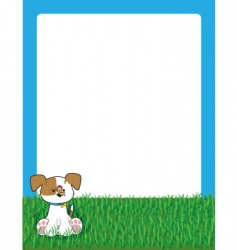 puppy in grass vector image