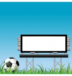 soccer ball with placard vector image