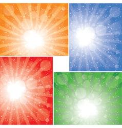 sunbeam backgrounds vector image