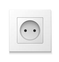 White socket outlet vector image vector image