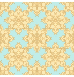 Yellow beige pattern on a pastel blue background vector