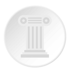 ancient ionic pillar icon circle vector image