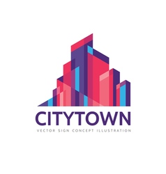 City town - real estate logo template vector image vector image