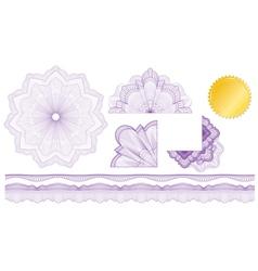 classic guilloche elements vector image