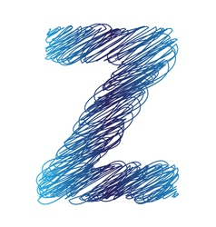 sketched letter Z vector image