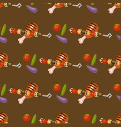 barbecue home seamless pattern background rarty vector image vector image