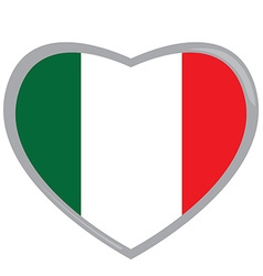 Isolated Italian flag vector image