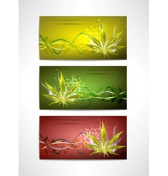 Marijuana cards set vector image