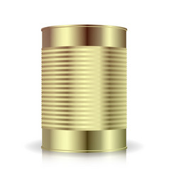 metallic cans food tincan ribbed metal tin vector image vector image