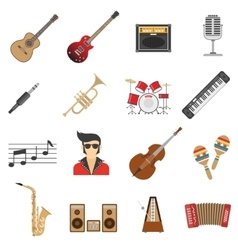 Music Icons Flat vector image