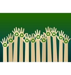 raising carton hands vector image