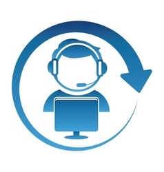 technical support assistant icon vector image