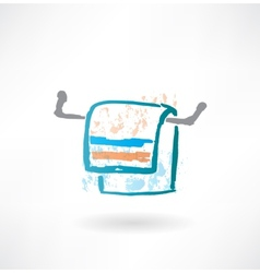 towel grunge icon vector image