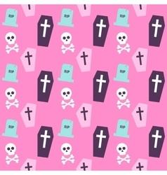 Trendy Colors Death Halloween Pattern vector image vector image