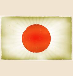 vintage japan flag poster background vector image vector image