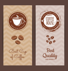 coffee shop or brand logo banner vector image