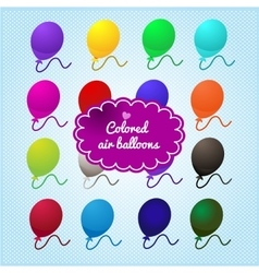 Colored balloons on a blue background vector image
