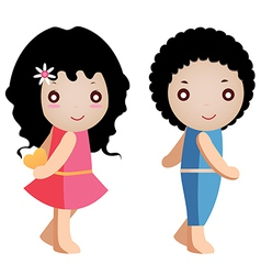 girl and boy vector image vector image