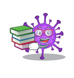 A diligent student in bovine coronavirus with book vector