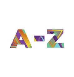 A-z concept retro colorful word art vector