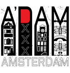 amsterdam skull t shirt graphic design vector image