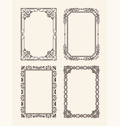 Antique ornate picture frames decor element vector