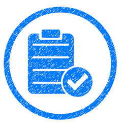 Approve list rounded grainy icon vector