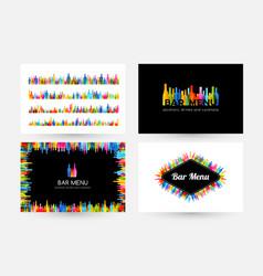 bar menu design collection horizontal poster vector image