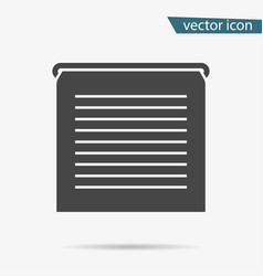 bill icon flat check symbol isolated on wh vector image