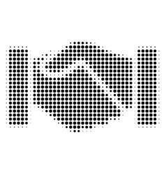 Black dot handshake icon vector