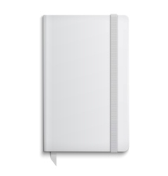 Blank copybook template with elastic band vector