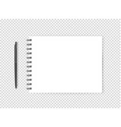blank page with a pen object isolated on vector image