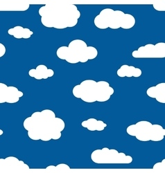 Blue sky and white clouds seamless pattern vector image