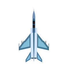 Bomber aircraft top view icon fight sky vector