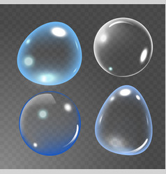 bubbles under water on vector image