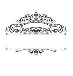 calligraphic design frame vector image
