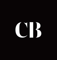 cb logo letter initial logo designs template vector image
