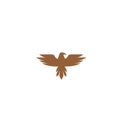 creative eagle bird logo design symbol vector image