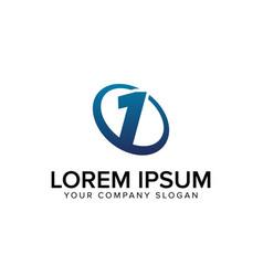 creative modern number 1 logo design concept vector image