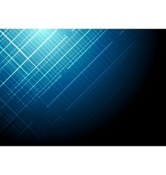 Dark blue shiny tech background vector