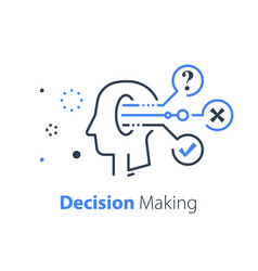 Decision making mental trap logical solution vector