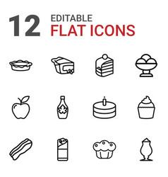 delicious icons vector image