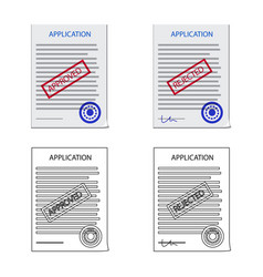 Design of form and document symbol set of vector