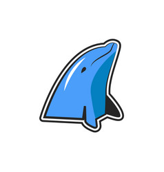 dolphin logo icon design vector image