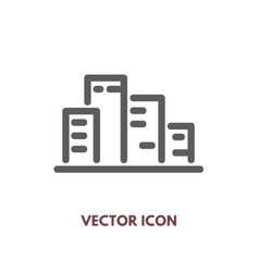 doodle city icon vector image