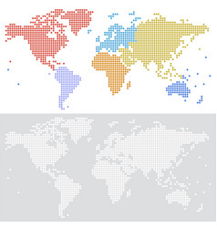 dotted halftone map world vector image