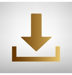Download sign Flat style icon vector