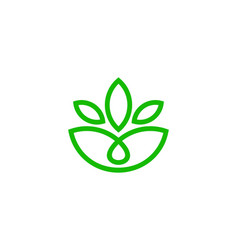 eco wellness logo icon design vector image